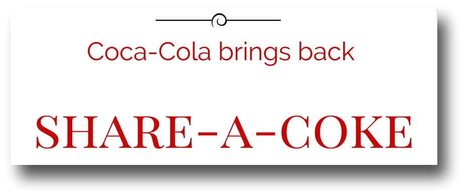 share a coke campaign image